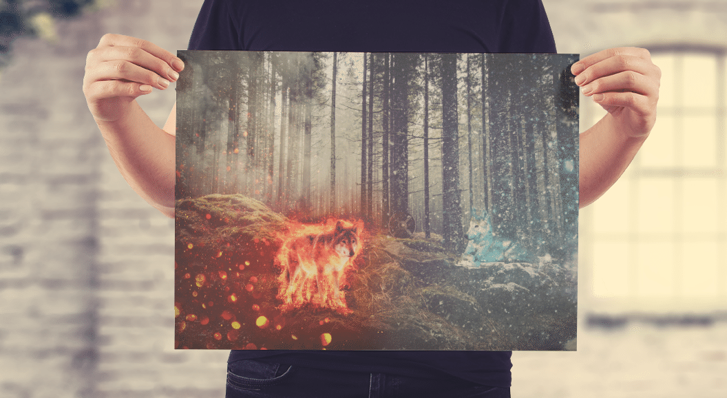 Red Wulf Council • Fire & Ice Wolf Pack • Photo Manipulation