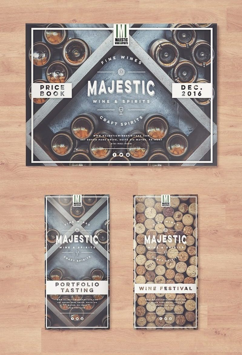 Majestic Wine & Spirits • Graphic Design & Print Work