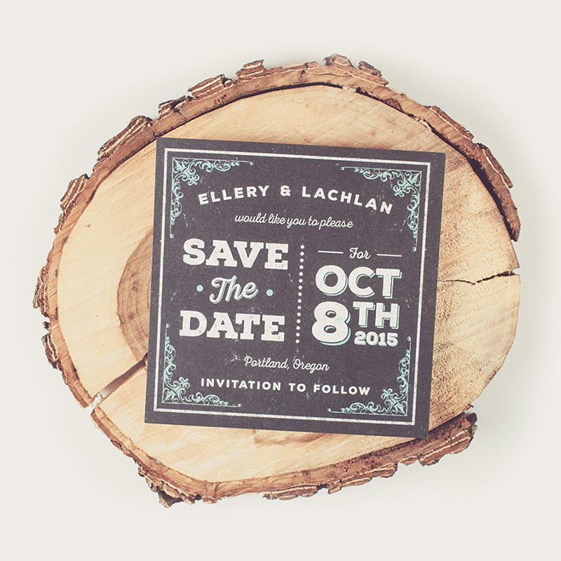 Chalk Save The Date • Graphic Design